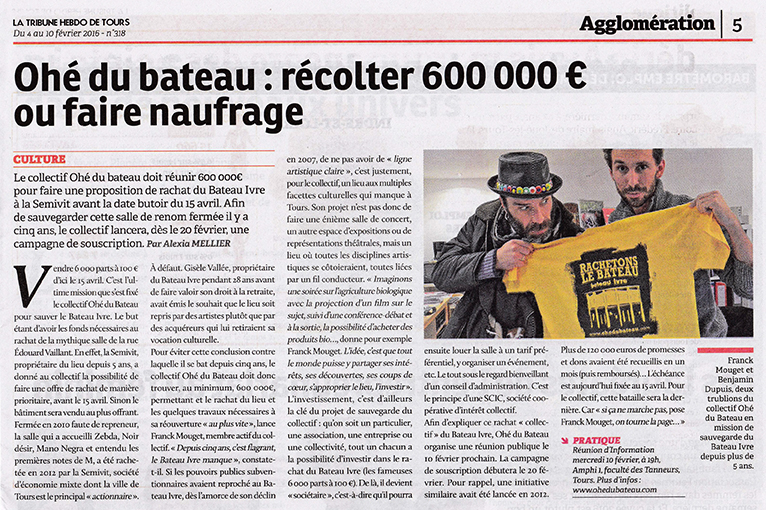 La Tribune de Tours - 04/02/2016
